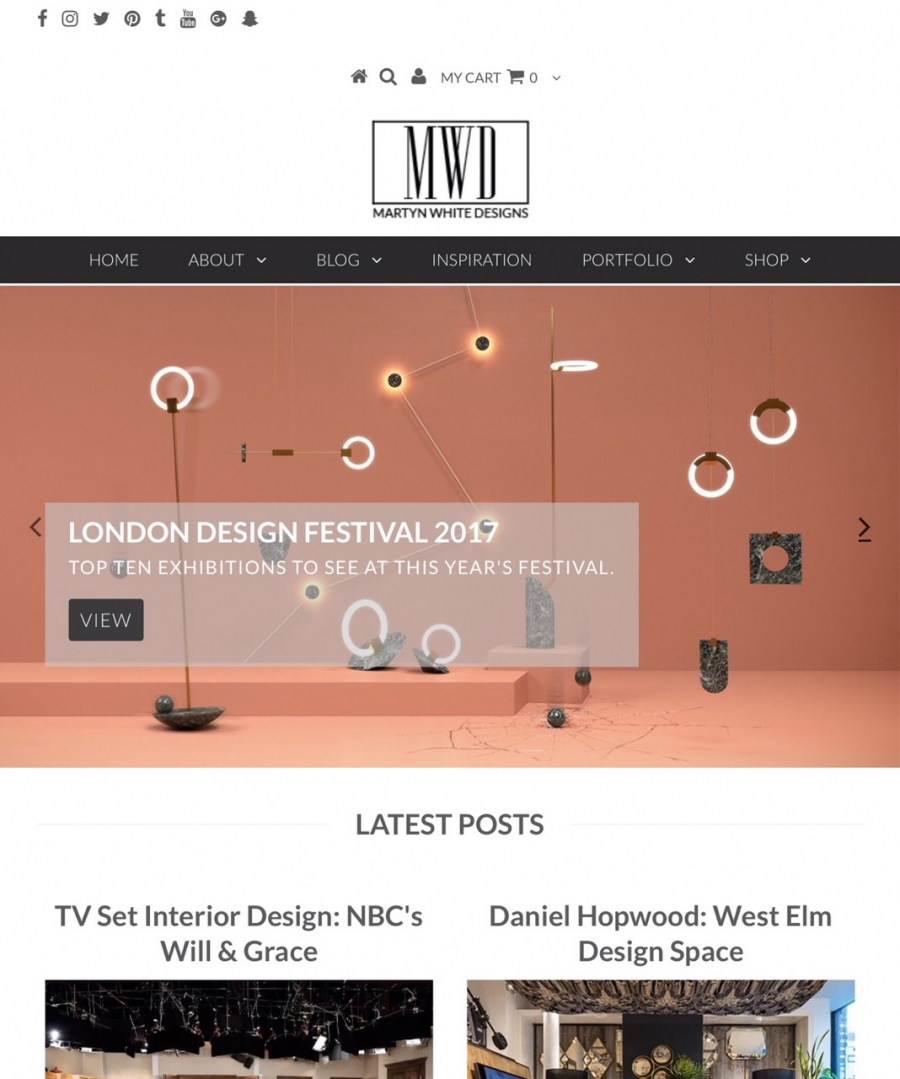 "2017 | ""London Design Festival - Top Ten Exhibitions To See"",Martyn White Designs blog"